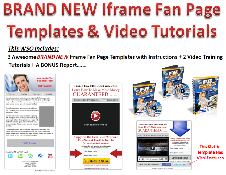 Facebook iFrame Fan Page Templates