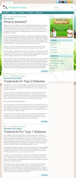 Diabetes Niche Blog