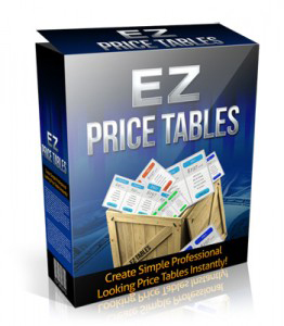 EZ WordPress Price Tables Plugin