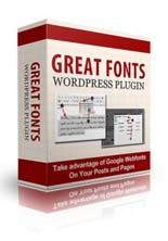 Great Fonts Plugin For WordPress