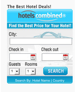 HotelsCombined Search Widget