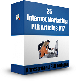25 Internet Marketing PLR Articles V17