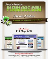 PLR Ready-To-Earn Niche Blogs 81-90
