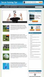 Soccer Training Niche Blog