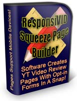 ResponsiVid Squeeze Page Builder Software