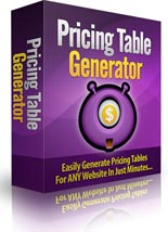 Pricing Table Generator Software