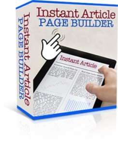 Instant Article Page Builder
