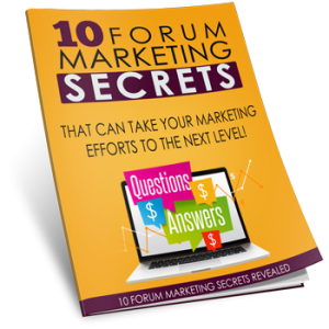 Forum Marketing Mastery 101