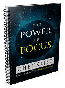 The Power Of Focus – Week of January 29th, 2018