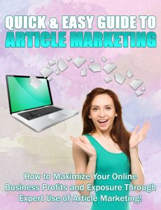 Quick And Easy Article Marketing